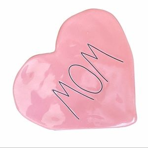 Rae Dunn Mom Sideways Pink Candy Heart Home Decor